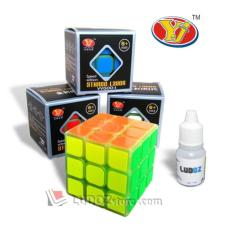 Rubik 3X3 Speed Edition Glow In The Dark + Pelumas Round Edge Yong Jun - 5Whk2t