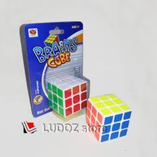 Rubik 3x3 Brain Cube White Base ROUNDED Anti Pop-Out ORI Yong Jun YJ8906 Magic