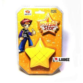 Shock Price Rubik 3x3 YELLOW STAR , Bintang, ORI Yong Jun YJ0231, Magic Cubic Rubik's Box 3x3x3 best price - Hanya Rp45.416