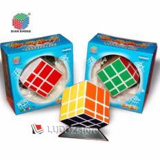 Rubik MIRROR 3x3 White Base Stiker COLOR, ORI DianSheng 3x3x3 Magic Cubic Rubik's BOX Licin