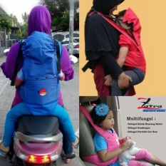 Sabuk Bonceng Anak Zatra 3in1 ( Sabuk, Car Seat, Gendongan ) By Ghozy Shop.