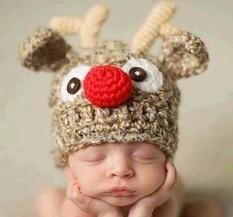 Helm Keselamatan untuk Bayi Bonnet Bébé FILLE Star Printed Musim Dingin Hangat Crochet Merajut Topi Bayi Fotografi Aksesoris Bayi Kostum Czapki DLA Dzieci 2017 Baru (Maroon) -Intl