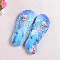 Frozen AISHA Anak-anak Sandal Anak Prempuan Sandal Jepit Musim Panas Anak- anak Pantai