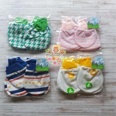 4set sarung tangan + kaos kaki bayi motif 11