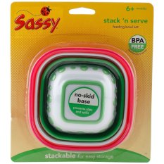 Sassy Stack N Serve Bowl Set 4K Sassy Diskon