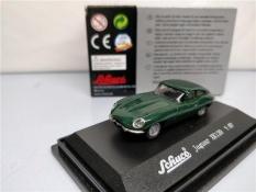 Schuco 1: 87 Jaguar XK120 Hijau Die-Melemparkan Model Mobil-Internasional