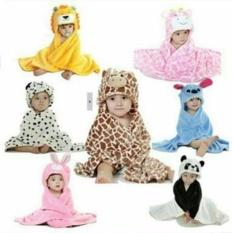 Selimut Bayi / Selimut Topi / Selimut Double Fleece / Selimut Hoodie Bulu Bayi 3D Hoodie Blanket Baby / Selimut Karakter Topi - Hello Kitty