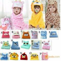 Spesifikasi Selimut Topi Double Fleece Selimut Hoodie Bulu Bayi 3D Hoodie Blanket Tudung Cewek