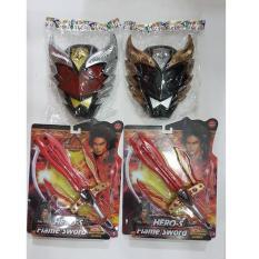 Jual Beli Sepasang Pedang Bima Dan Topeng Merah Dan Topeng Hitam Baru Indonesia