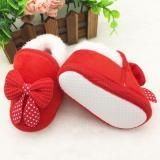Harga Sepatu Anak Bayi Perempuan Pita Merah 18 Bulan Asli Deo