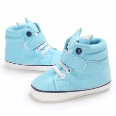 Promo Sepatu Bayi Baby Boy Girls Cotton First Walker Solid Color Tee Tied Anti Slip Cotton Murah