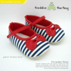 Top 10 Sepatu Bayi Prewalker Shoes By Freddie The Frog Gwen Stripe Blue Online