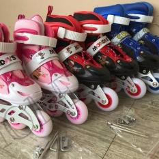 Sepatu Roda Anak Power Inline Skate POWER RODA NYALA LED PACKING POUCH