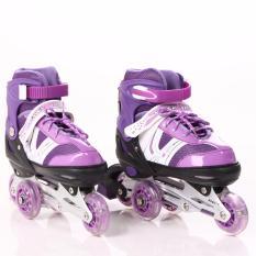 Sepatu Roda Anak Size L dengan Pengaman   Roda Menyala- Power Aosite Ungu 1b7e25fa66