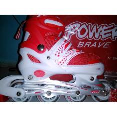 Sepatu Roda Power Brave Merah - Va9atn
