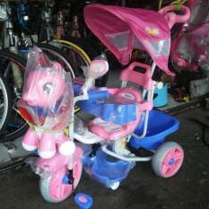 Sepeda Anak Roda Tiga Family Kuda Phony Ban Besar. - E96533 - Original Asli