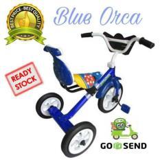 Sepeda Bmx Roda Tiga Anak Tricycle Sandaran Yoe Yoe Warna Biru - 00Jhvf