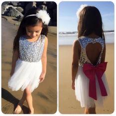 Payet Bayi Gadis Dress Putri Pesta Gaun Gaun Backless Gaun-Internasional