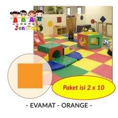 Diskon Set 1 Pack Isi 2 X 10 Evamat Polos Matras Tikar Karpet Puzzle Alas Lantai Evamat Orange Akhir Tahun