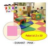 Toko Jual Set 1 Pack Isi 2 X 10 Evamat Polos Matras Tikar Karpet Puzzle Alas Lantai Evamat Pink
