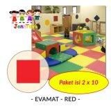 Spesifikasi Set 1 Pack Isi 2 X 10 Evamat Polos Matras Tikar Karpet Puzzle Alas Lantai Evamat Red Beserta Harganya