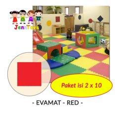 Jual Set 1 Pack Isi 2 X 10 Evamat Polos Matras Tikar Karpet Puzzle Alas Lantai Evamat Red Murah Dki Jakarta