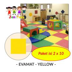 Spesifikasi Set 1 Pack Isi 2 X 10 Evamat Polos Matras Tikar Karpet Puzzle Alas Lantai Evamat Yellow Dan Harga
