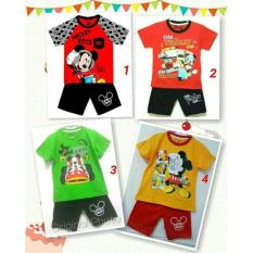 Setelan Anak Size 1-6 Thn/Baju Anak Cowo / Kaos Karakter Mickey Mouse