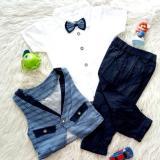 Beli Setelan Baju Kemeja Bayi Anak Rompi Dasi Kupu Hollis Setelan Baju Anak Murah