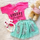Jual Setelan Baju Rok Bayi Anak Rok 3In1 Bando Daddy Princess Antik
