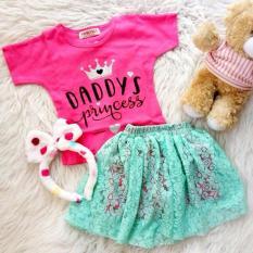 Diskon Setelan Baju Rok Bayi Anak Rok 3In1 Bando Daddy Princess