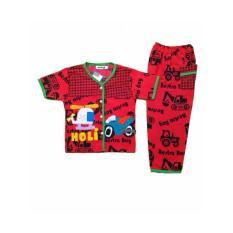 Setelan Baju Tidur Piyama Anak Laki-Laki Lengan Pendek BL28-2
