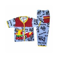 Setelan Baju Tidur Piyama Anak Laki-Laki Lengan Pendek BL28-3