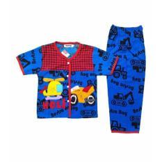 Setelan Baju Tidur Piyama Anak Laki-Laki Lengan Pendek BL28-4