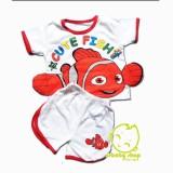 Diskon Besarsetelan Kaos Pakaian Baju Bayi Laki Laki Karakter Nemo