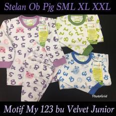 Setelan Panjang (12-18M) Baju Tidur/Piyama Velvet Junior LL LB Cherrybabykidsshop