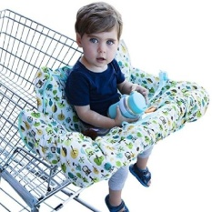 Shopping Cart Cover for Baby or Toddler - 2-in-1 High Chair Cover - Best 100% Germ Protection - Unisex Design for Boy or Girl - Fits Large Carts - Machine Washable - Folds Into Compact Carry Bag - Owl - intl