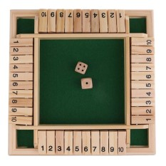 Shut The Box Board Game Set Number Drinking Games Party Pub Bar Family Game - intl