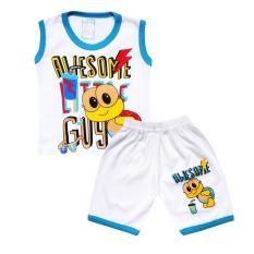 Skabe Baju Tidur Anak Bayi Putih Singlet Stelan Kaos 2582