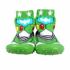 Skidder Sepatu Bayi Motif Green Force Uk.22