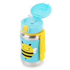 Skip Hop Zoo Stainless Straw Bottle Bee Asli