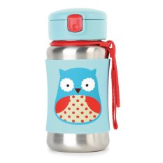 Model Skip Hop Zoo Stainless Straw Bottle Owl Terbaru