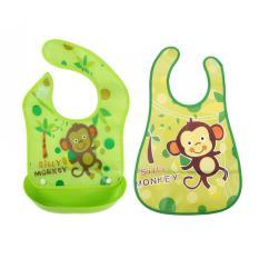 Beli Slaber Plastik Celemek Bayi Slabber Plastic Waterproof Baby Bib Apron Tadah Liur Kredit Tiongkok