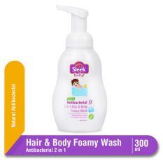 Sleek Baby Natural Antibacterial 2 in 1 Hair & Body Foamy Wash Botol 300 mL