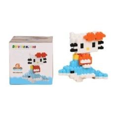 Partikel Kecil DIY Blok Puzzle Toy Batu Bata ABS Dolphin Kitty Perakitan Model-Intl