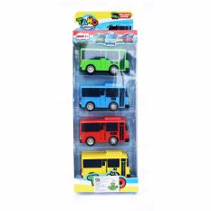 SNETOYS - Mainan Anak Tayo Bus  - Tayo Little Bus - 4 Pcs Set
