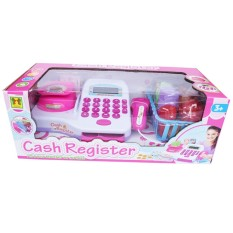 SNETOYS -  Mainan Cash Register Mainan Kasiran Anak 66049 Lengkap dengan Keranjang belanja