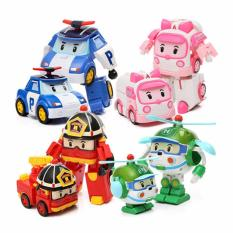 SNETOYS - Robocar Poli Transformasi Robot Mobil - Set 4 In 1