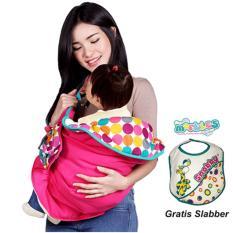 Review Snobby Gendongan Samping Df Saku Batita Color Marbles Tpg 1042 Pink Free Slaber Snobby