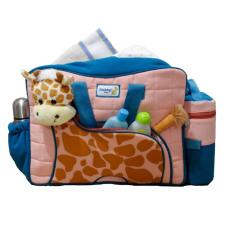 Snobby Tas Bayi Besar Saku Aplikasi Boneka + TBSD Giraffe Series TPT 1577 Biru - Tas Bayi
